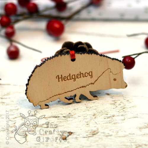 Personalised Hedgehog Decoration