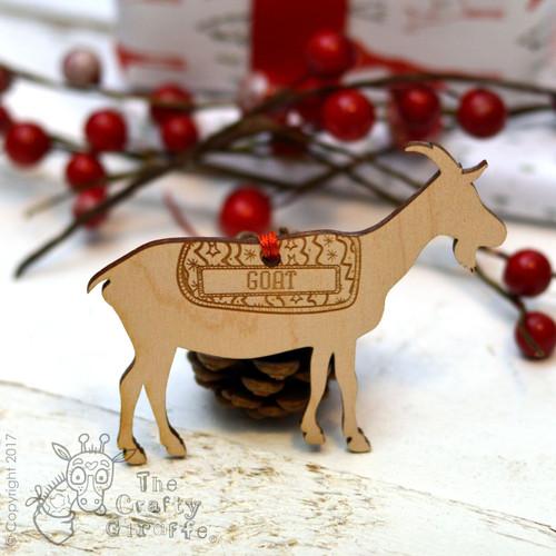 Personalised Goat Decoration