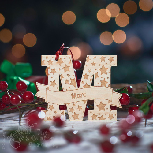 Personalised Starry Initial Decoration