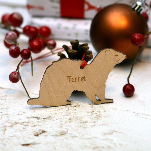 Personalised Ferret Pet Decoration - The Crafty Giraffe