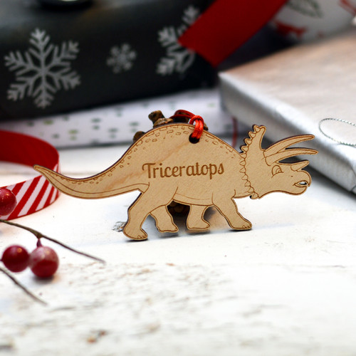 Personalised Dinosaur Decoration - Triceratops - The Crafty Giraffe