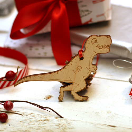 Personalised Dinosaur Decoration - T-Rex - The Crafty Giraffe