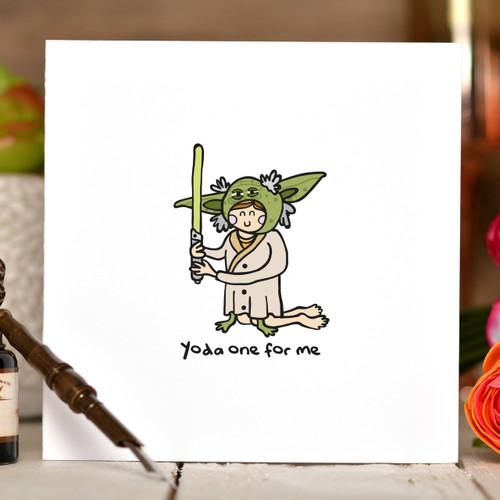 Yoda only one for me Card - The Crafty Giraffe