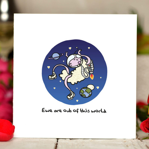 Buy Ewe are out of this world Card From The Crafty Giraffe, the home of unique and affordable gifts for loved ones...