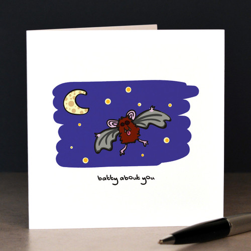 Batty about you (bats) Card - The Crafty Giraffe