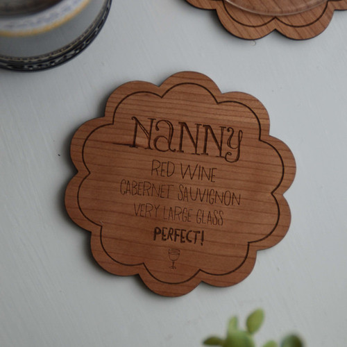 Personalised Drinks Order Coaster - The Crafty Giraffe