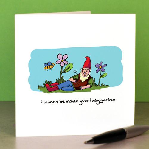 I wanna be inside your lady garden Card - The Crafty Giraffe
