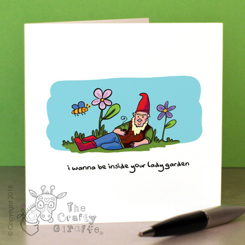 I wanna be inside your lady garden Card