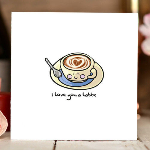 I love you a latte Card - The Crafty Giraffe