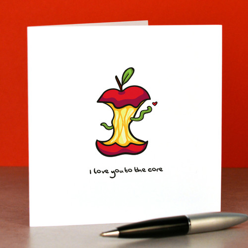 I love you to the core Card - The Crafty Giraffe