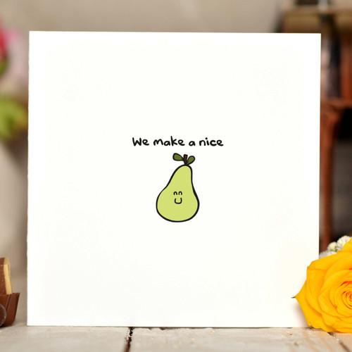 We make a nice pear Card - The Crafty Giraffe