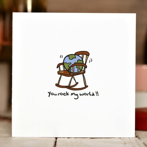 You rock my world Card - The Crafty Giraffe