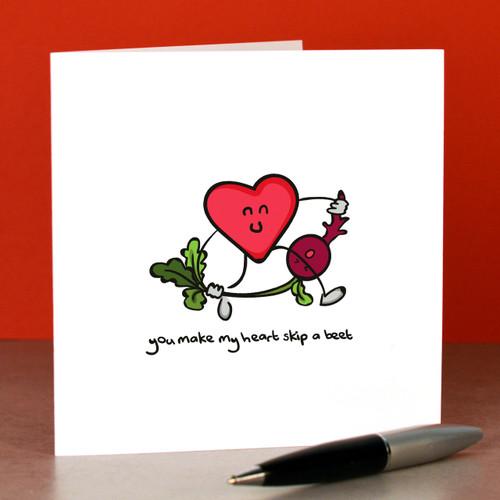You make my heart skip a beat Card - The Crafty Giraffe
