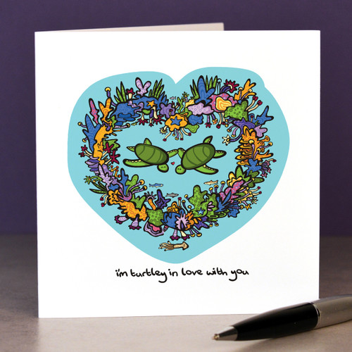 I'm turtley in love with you Card - The Crafty Giraffe