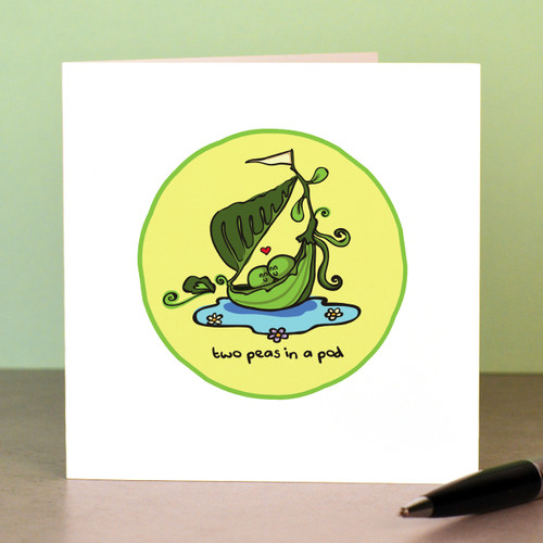 Two peas in a pod Card - The Crafty Giraffe