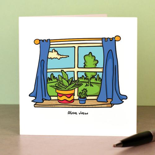 Aloe view Card - The Crafty Giraffe