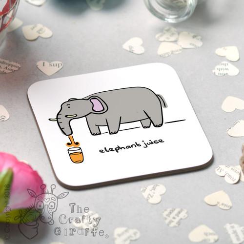 Elephant Juice Coaster