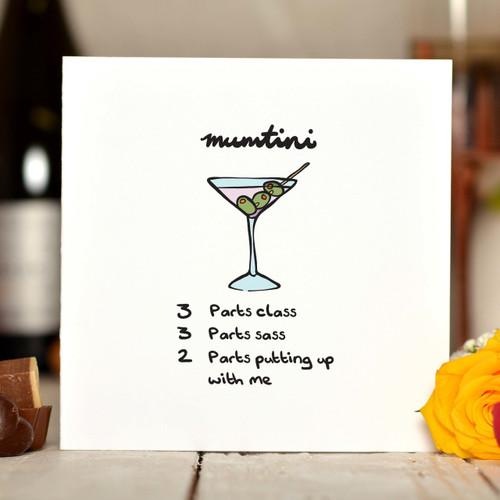Mumtini Card - The Crafty Giraffe