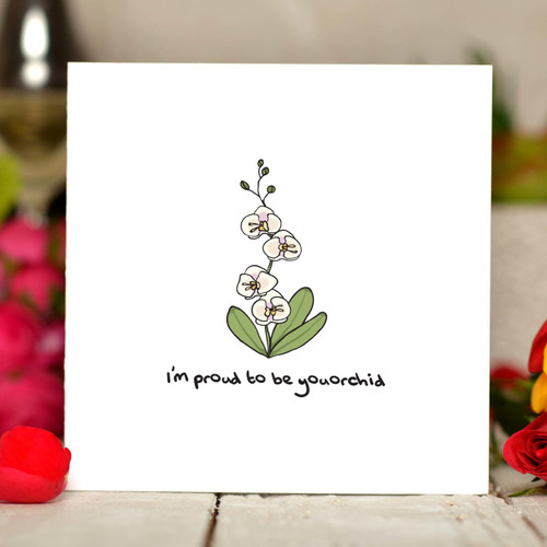 I'm proud to be youorchid Card - The Crafty Giraffe