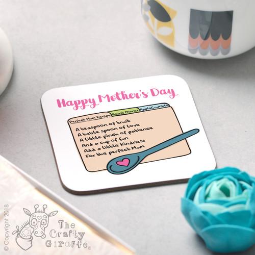 Perfect mum recipe Coaster