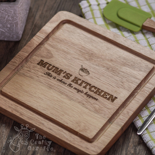 Personalised Kitchen Board - The Crafty Giraffe