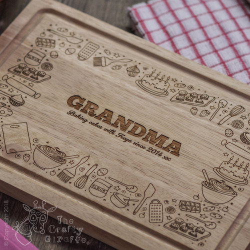 Personalised Baking Board - The Crafty Giraffe