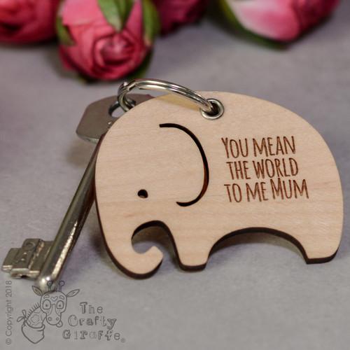 Personalised Elephant Keyring