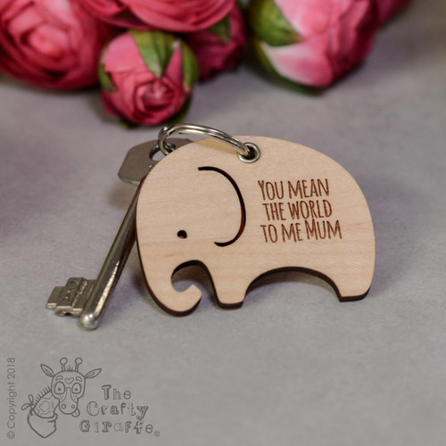 Personalised Elephant Keyring - The Crafty Giraffe