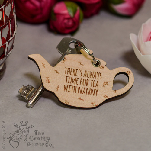 Personalised Teapot Keyring - The Crafty Giraffe