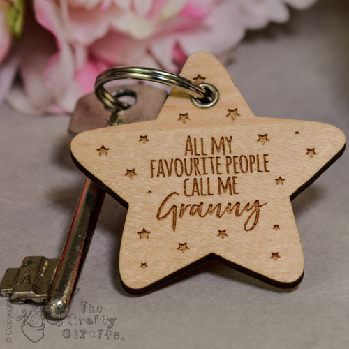 Personalised All my favourite people call me Keyring