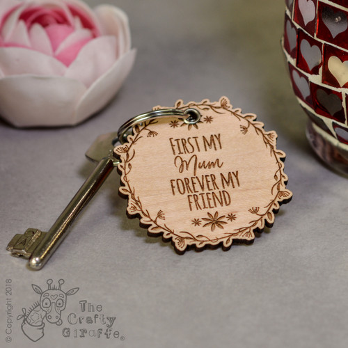 Personalised Forever my friend Keyring - The Crafty Giraffe