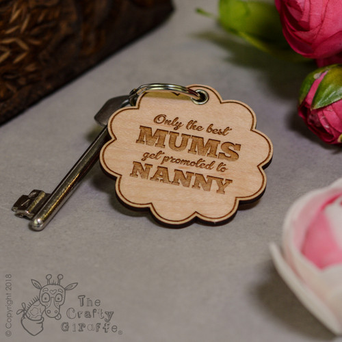 Personalised Only the best Keyring - The Crafty Giraffe