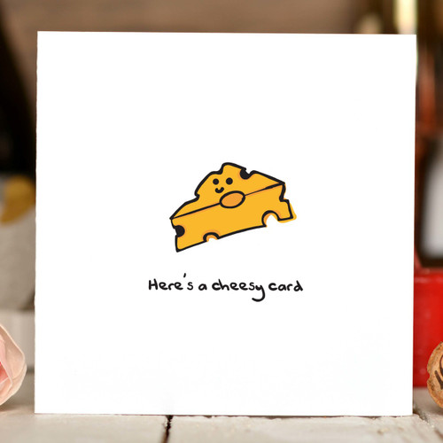Here's a cheesy card Card - The Crafty Giraffe