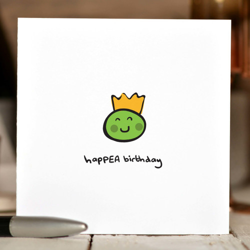 HapPEA Birthday Card - The Crafty Giraffe