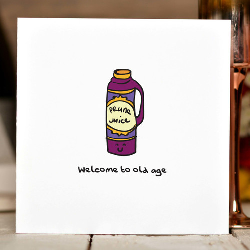 Welcome to old age Card - The Crafty Giraffe