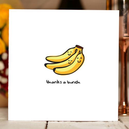 Thanks a bunch - banana Card - The Crafty Giraffe