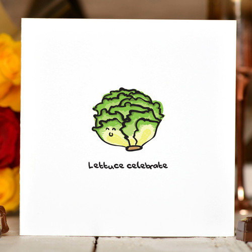 Lettuce Celebrate Card - The Crafty Giraffe