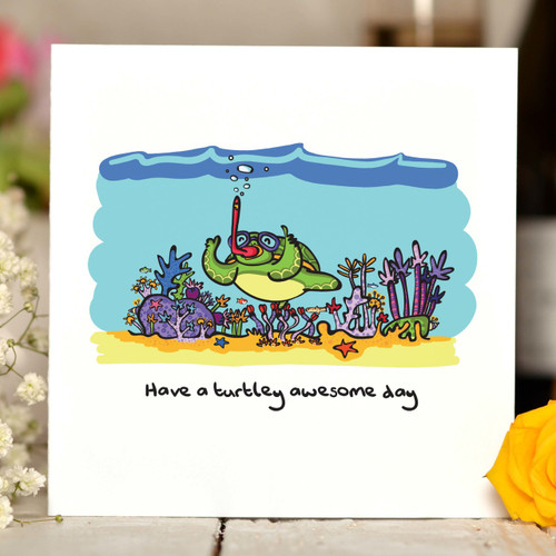 Have a turtley awesome day Card - The Crafty Giraffe