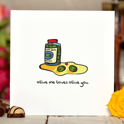 Olive me loves olive you Card - The Crafty Giraffe