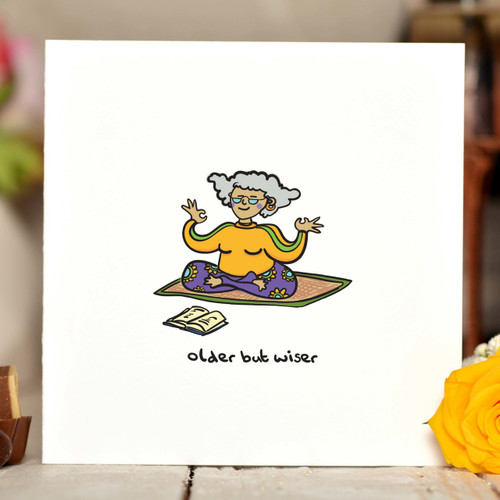 Older But Wiser (female) Card - The Crafty Giraffe