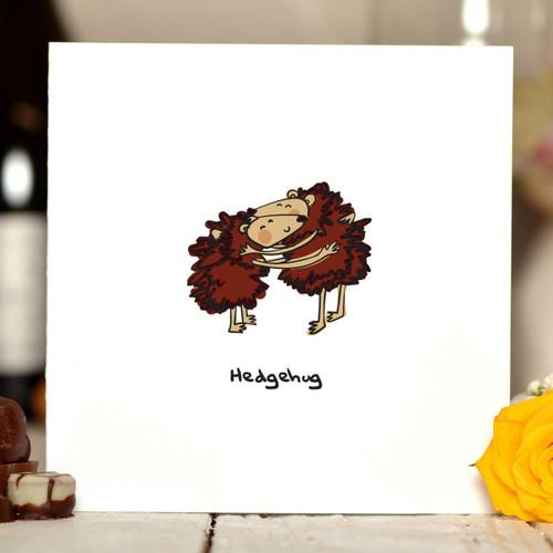 Hedgehug Card - The Crafty Giraffe