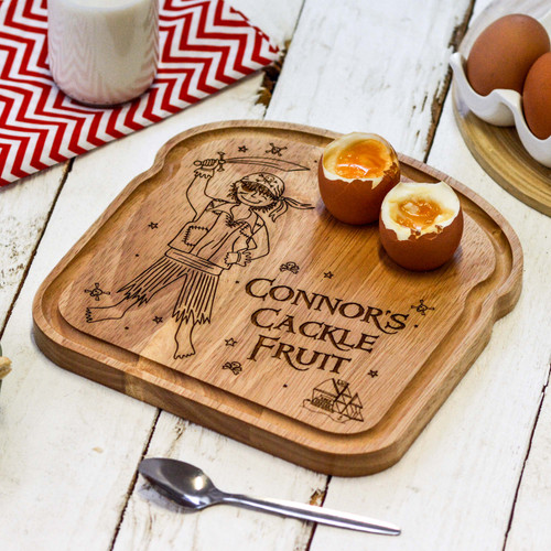Personalised Breakfast Egg Board - Pirate - Boy - The Crafty Giraffe