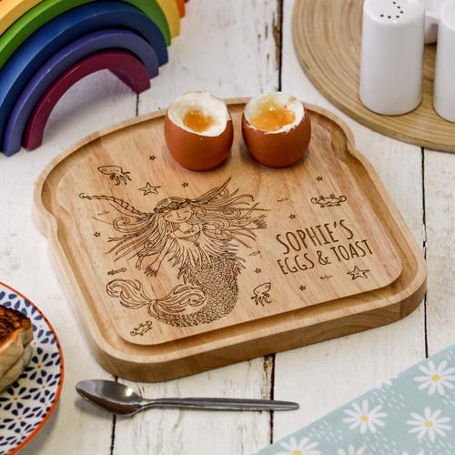 Personalised Breakfast Egg Board - Mermaid