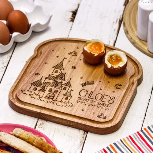Personalised Breakfast Egg Board - Princess Castle