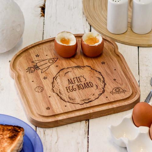 Personalised Breakfast Egg Board - Moon