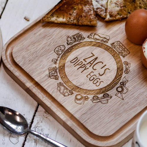 Personalised Breakfast Egg Board - Road