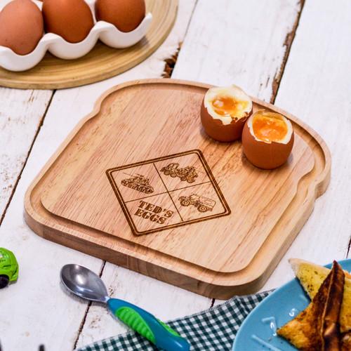 Personalised Breakfast Egg Board - Army Logo