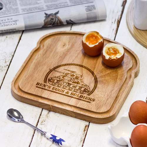 Personalised Breakfast Egg Board - Tank
