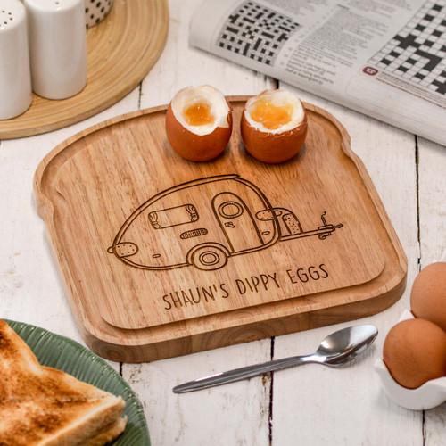 Personalised Breakfast Egg Board - Caravan