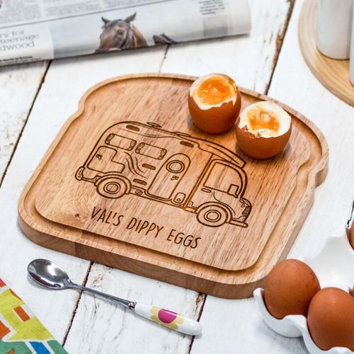 Personalised Breakfast Egg Board - Motorhome